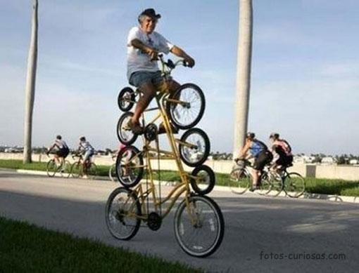 cuadruple bicicleta - tandem vertical