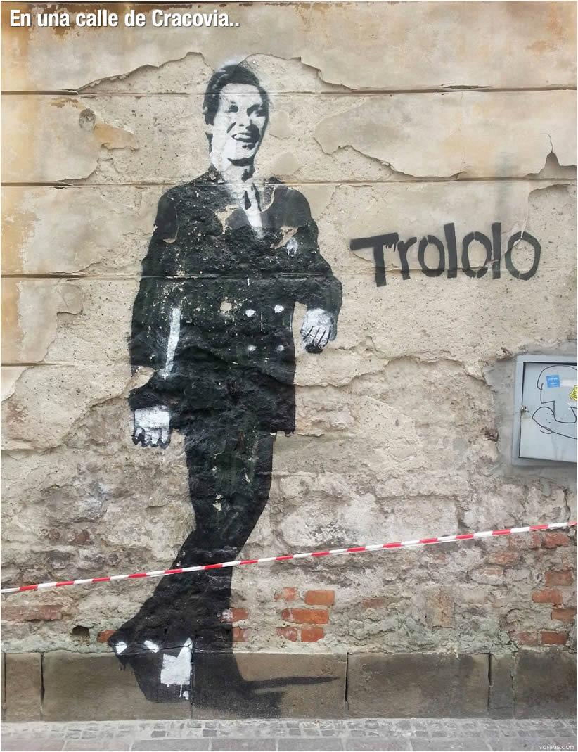 graffiti trololo man