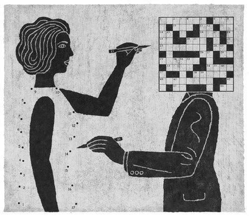 hombre mujer crucigramas el en la cabeza y ella en el cuerpo