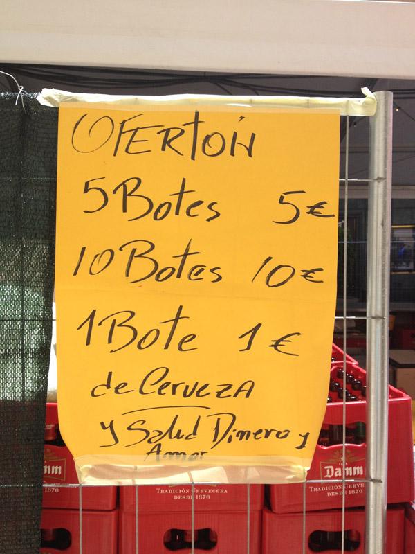 oferton 5 botes 5 euros 10 botes 10 euros 1 bote 1 euro
