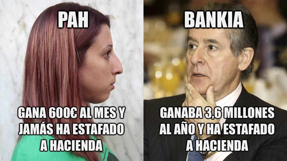 pah gana 600 euros al mes y jamas ha estafado a hacienda - bankia miguel blesa ganaba 3,6 millones al año y ha estafado a haciendoa