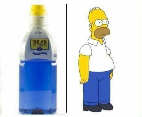 Parecidos razonables: Homer Simpson y botella Solan de Cabras