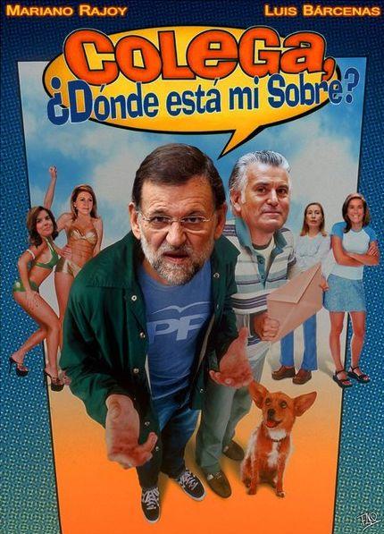Colega, ¿dónde está mi sobre?, la nueva película de Rajoy y Bárcenas