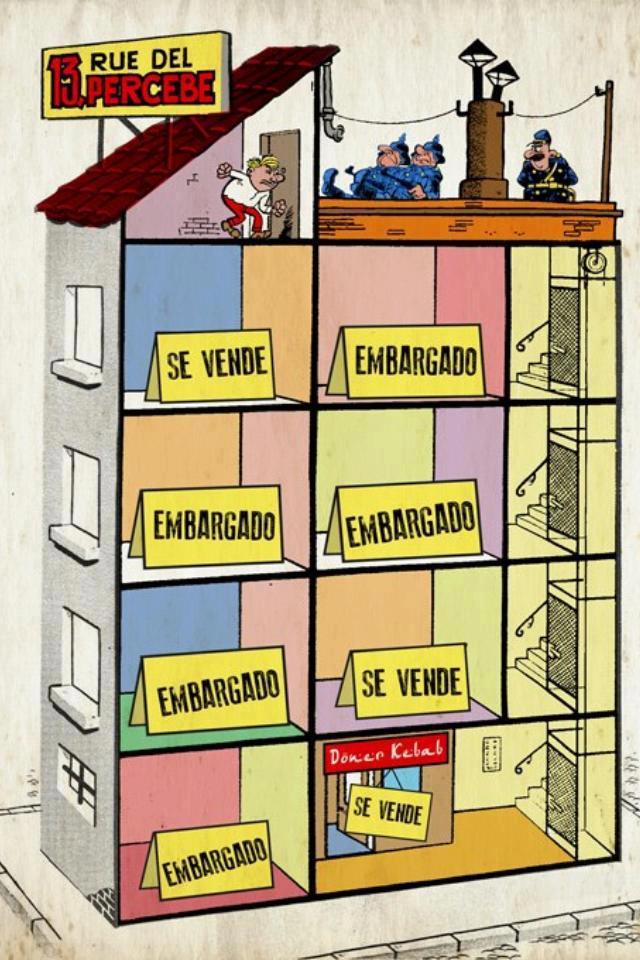 Rue del Percebe en la época actual