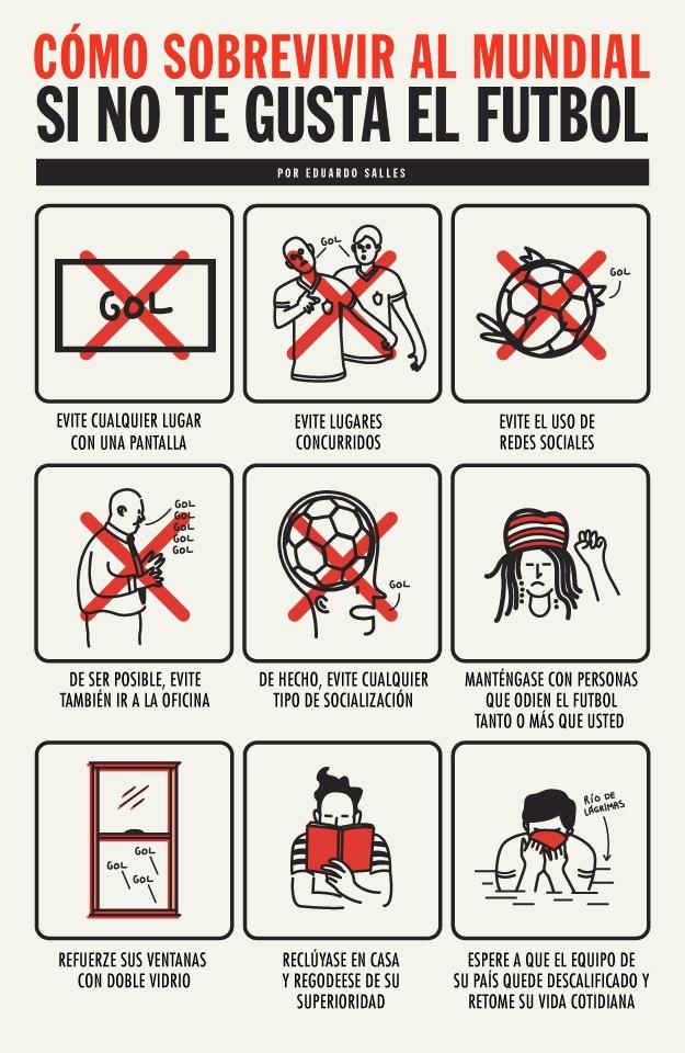 Cómo sobrevivir al mundial si no te gusta el fútbol