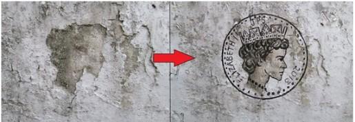 La marca en la pared de la Reina Elizabeth