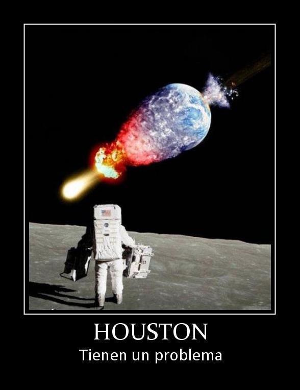 astronauta meteorito destruye tierra houston tienen un problema