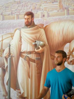 parecidos razonables chico con personaje cuadro medieval