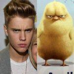 Parecidos razonables: Justin Bieber y pollito enfadado