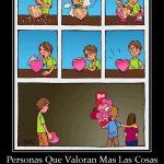 Personas que valoran más las cosas compradas que las hechas con amor