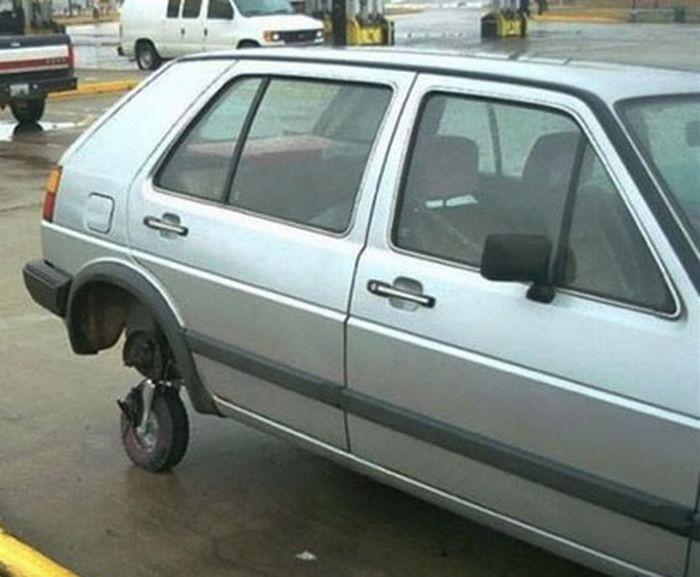 coche con ruedita
