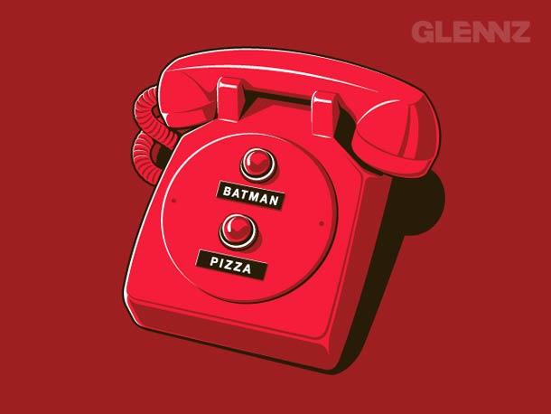 glennz telefono boton batman pizza