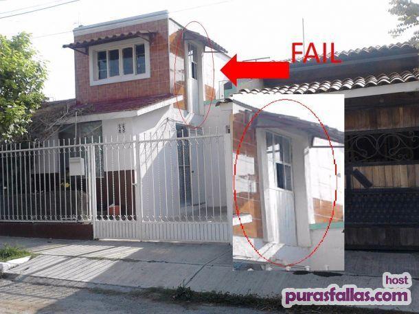 puerta de casa en piso de arriba fail