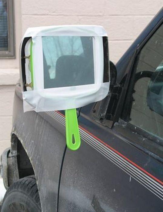 retrovisor con espejo casero