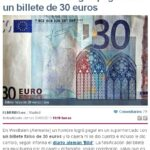 Un hombre consigue pagar con un billete de 30 euros