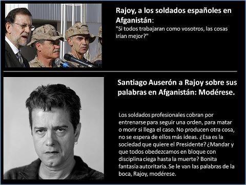 Santiago Auserón (Juan Perro) a Rajoy sobre sus palabras en Afganistán