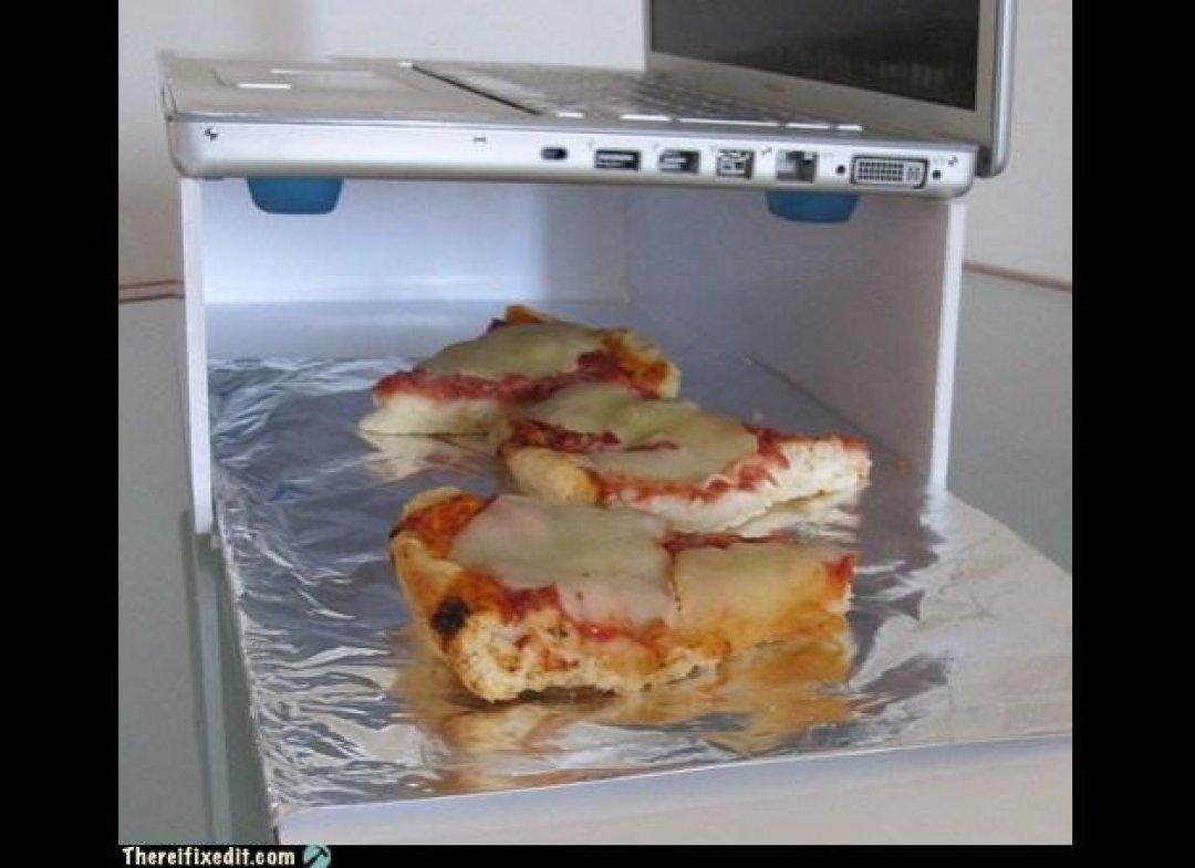 invento para utilizar el portatil como calentador de alimentos