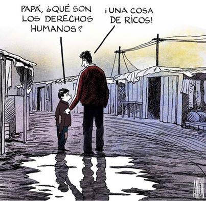 papa que son los derechos humanos una cosa de ricos