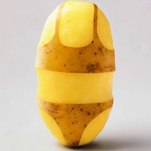 patata en bikini