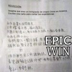 Redacción: Imagina que eres un inmigrante chino en América. Escribe una carta para contar tus experiencias