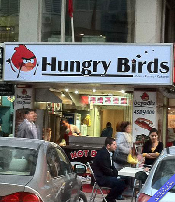 restaurante cartel hungry birds