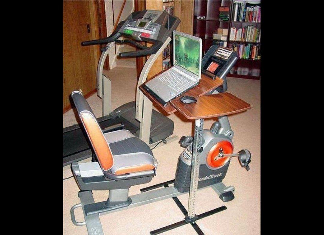 soporte para ordenador en bicicleta estática