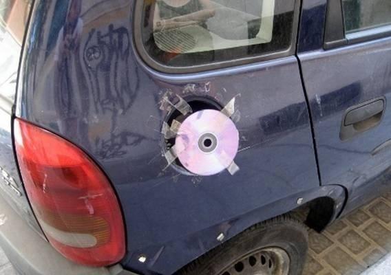 tapa de deposito de coche con cd