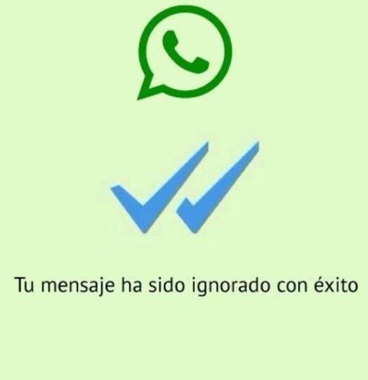 whatsapp tu mensaje ha sido ignorado con exito