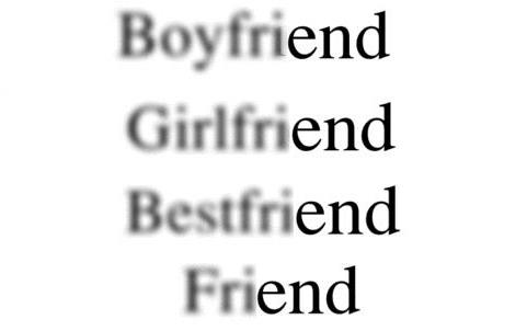 Boyfriend, Girlfriend, Bestfriend, Friend
