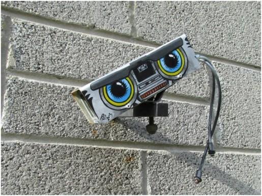 camara vigilancia robot cortocircuito