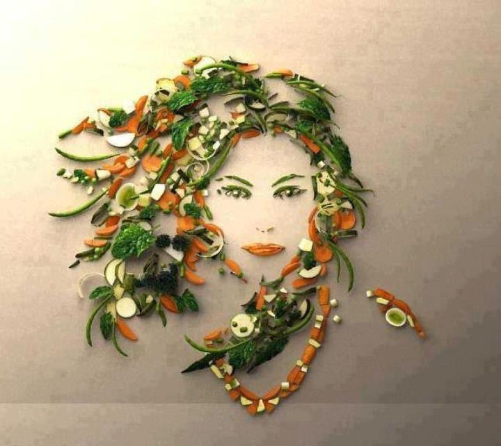 Arte con comida - Cara afrutada