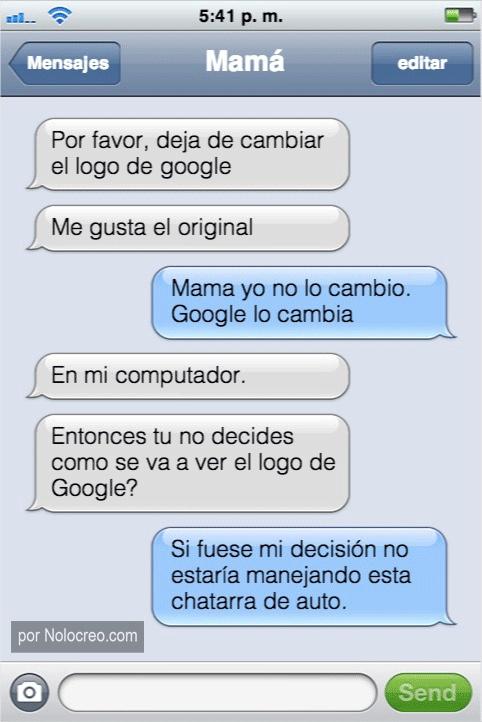 conversacion whatsapp por favor deja de cambiar el logo de google