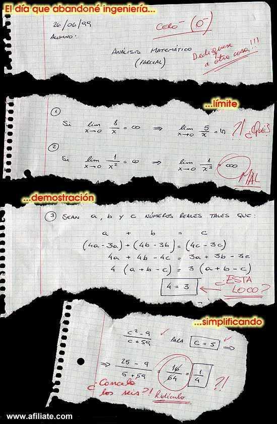 Exámenes de matemáticas: poco nivel pero mucha imaginación