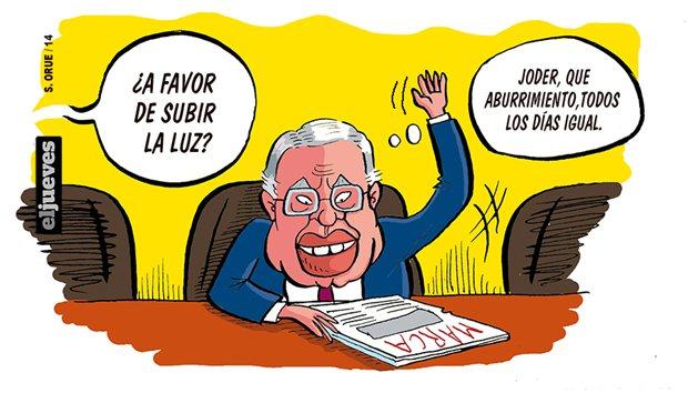 Felipe González, ¿a favor de subir la luz?