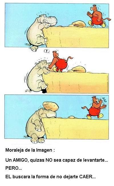 hipopotamo subiendo moraleja un amigo quizas no sea capaz de levantarte pero buscara la forma de no dejarte caer