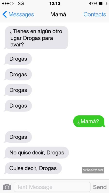 Madres vs Whatsapp: ¿tienes en algún otro lugar drogas para lavar?