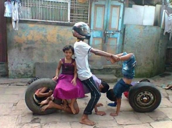 moto hecha por niños