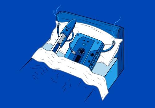 cassette y boligrafo despues de hacer el amor