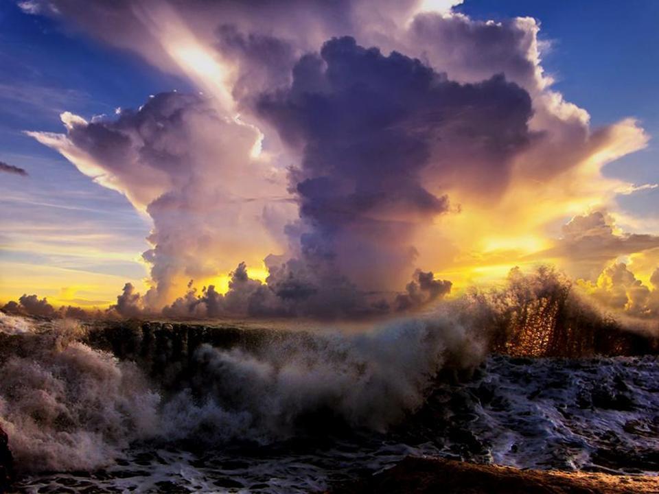 paisaje con nubes sorprendentes