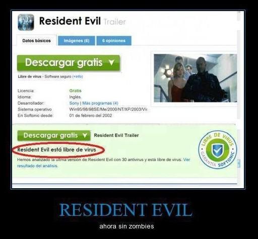 resident evil esta libre de virus ahora sin zombies