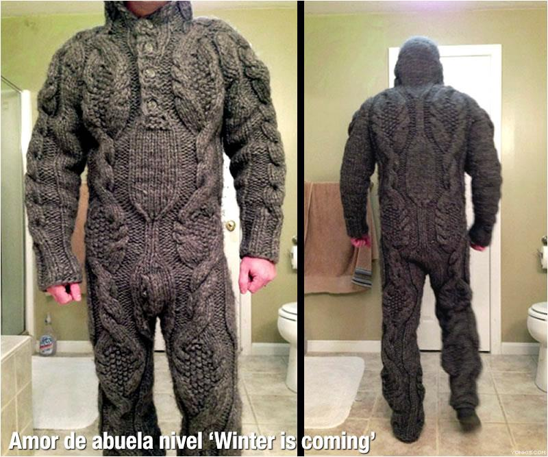 traje de punto amor de abuela nivel winter is coming