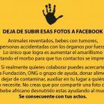 Deja de subir esas fotos a Facebook. Sabio consejo