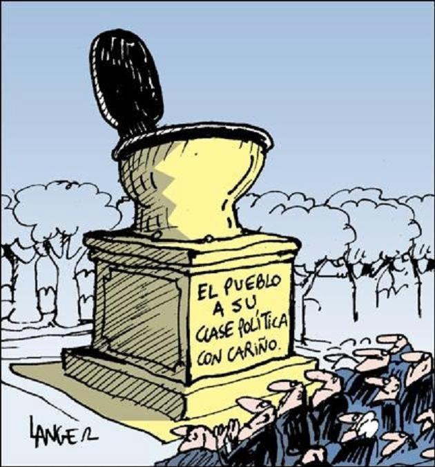 El primer monumento de los ciudadanos a la clase política