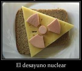 tostada queso y jamon el desayuno nuclear