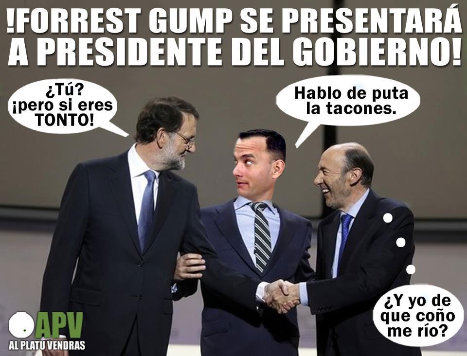 apv forrest gump se presenta a presidente del gobierno