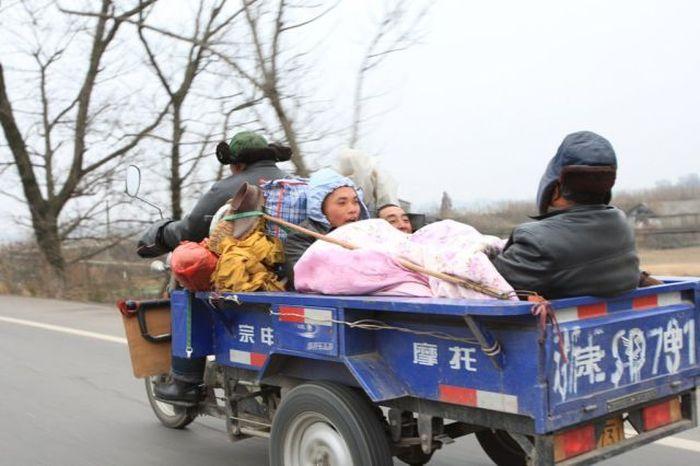 asia mongolia carricoche con cama