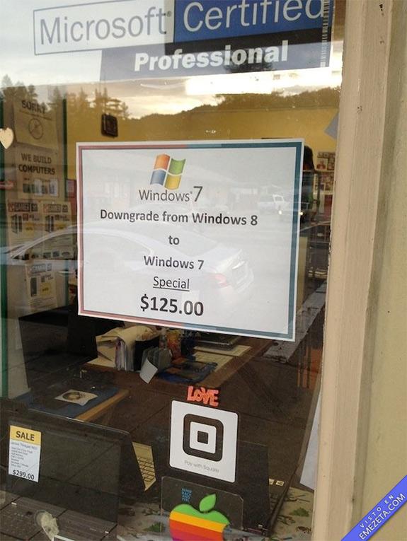 ¿Arrepentido de instalar Windows 8? No problem!