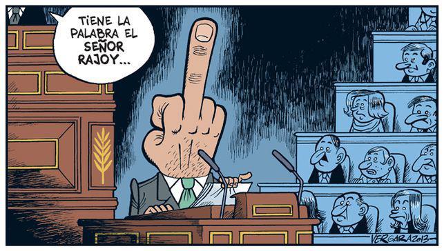 congreso tiene la palabra el señor rajoy corte de manga