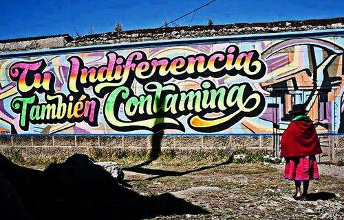 graffiti tu indiferencia tambien contamina