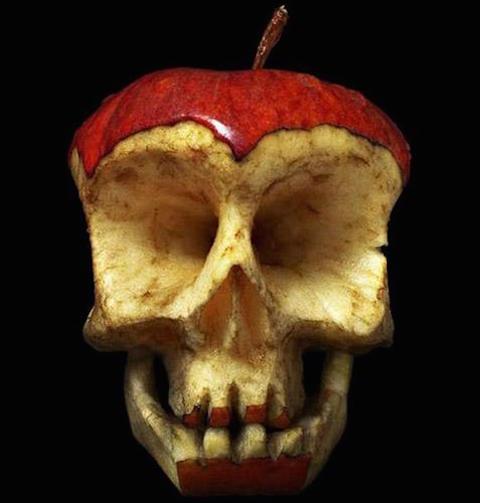 Manzana calaverizada